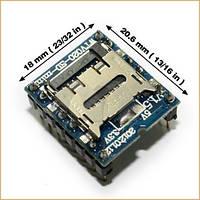 Звуковой модуль MINI SD WTV020-SD-16P Arduino