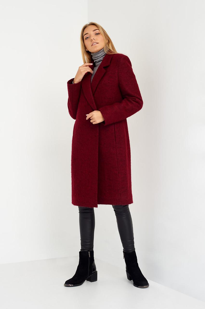 850b4cf7fdd Очень красивое вишневое пальто ниже колен  продажа