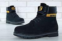 """Зимние ботинки на меху Caterpillar """"Black"""" (Черные) (реплика А+++ ), фото 1"""