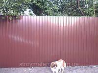 Обустройство участка. Забор из профнастила