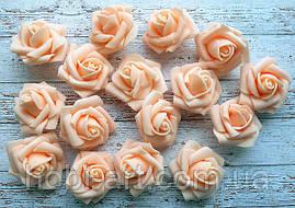 Бутони троянди 40 мм  № 05 персикові