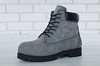 "Зимние ботинки на меху Timberland Classic Premium ""Grey"" (Серые) (реплика А+++ ), фото 1"