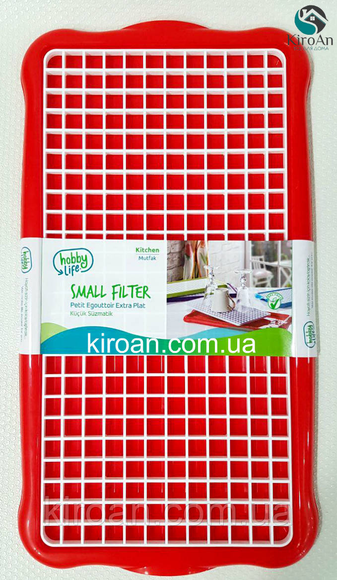 Сушка для посуды и столовых приборов Hobby life, Турция 41*22 см (цвет-красный)