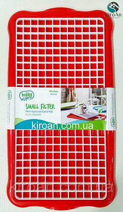 Сушка для посуды и столовых приборов Hobby life, Турция 41*22 см (цвет-красный), фото 2