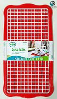 Сушка/сушилка/поддон для посуды и столовых приборов Hobby life, Турция 41*22 см (цвет-красный)