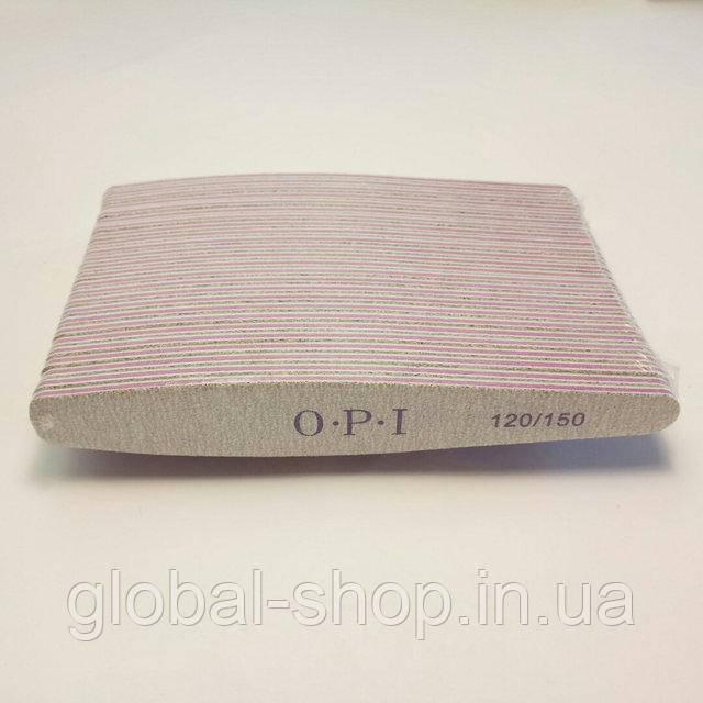 Упаковка пилок OPI 80/80 25 шт широкая серая OPI овал (или другая абразивность , форма на ваш выбор)
