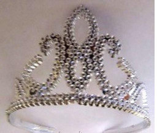 Корона/диадема Снежной Королевы серебристая