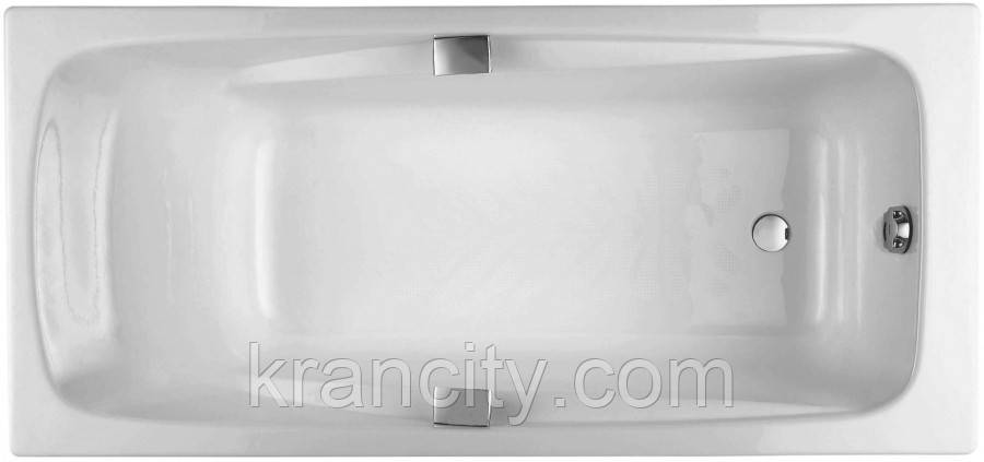 Ванна чугунная 170х80см Jacob Delafon REPOS E2915-00 ручки E75110-CP + ножки E4113-NF , Франция