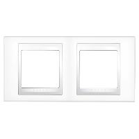 Рамка двухместная Белый Schneider Electric Unica Plus (mgu6.004.18)