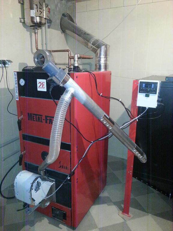 Котел твердотопливный Metal-Fach 60 кВт c пелетной горелкой Eco-Palnik