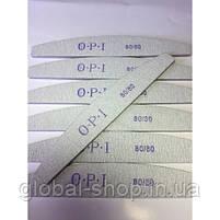 Упаковка пилок OPI 80/80 25 шт широкая серая OPI овал (или другая абразивность , форма на ваш выбор), фото 9