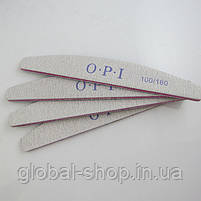 Упаковка пилок OPI 80/80 25 шт широкая серая OPI овал (или другая абразивность , форма на ваш выбор), фото 10