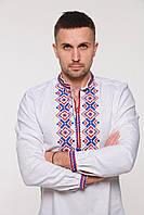 """Вышиванка мужская 2KOLYORY """"Ромби Косач"""" L Белый (4018-L)"""