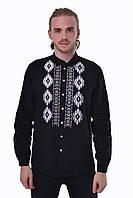 "Вышитая мужская сорочка 2KOLYORY ""Звага"" M Черный (4006-M)"