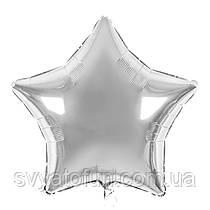"""Фольгированный шар звезда серебро 18"""" 301500S Flexmetal"""