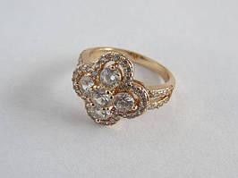 Позолоченное женское кольцо Xuping с фианитами 142485