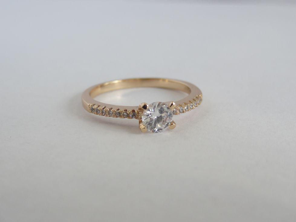 Позолоченное женское кольцо Xuping с фианитами 142489