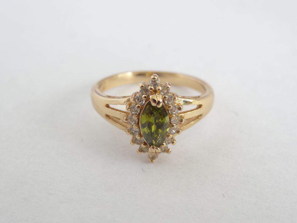 Позолоченное женское кольцо Xuping с фианитами 142514