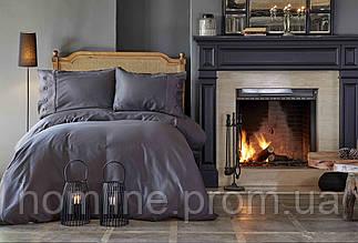 Постельное белье Karaca Home сатин Infinity antrasit 2019-1 антрацит евро размер