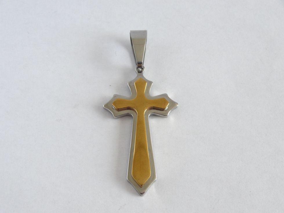Крестик из медицинской стали 142778