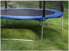Батут SkyJump 13 фт., 404 см.з защитной сеткой и лесенкой, фото 3