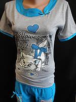Хлопковые пижамы с рисунком для молодежи., фото 1