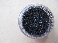Песок для дизайна ногтей Черный.