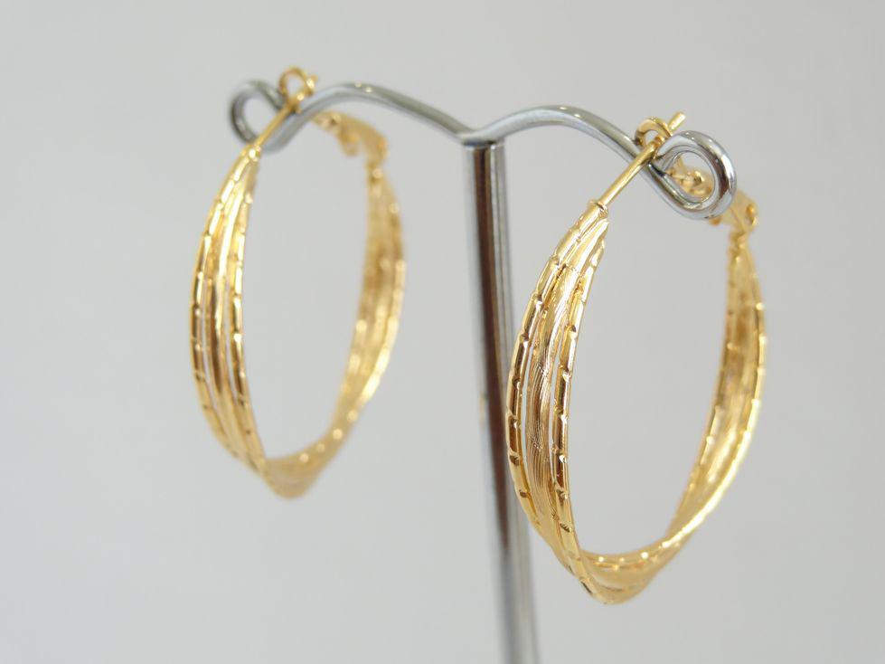 Серьги кольца позолоченные Xuping 142980