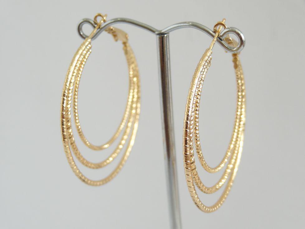 Серьги кольца позолоченные Xuping 142986