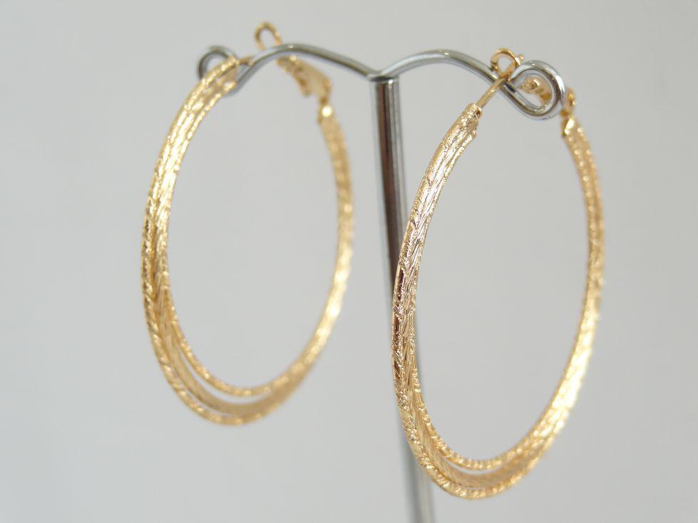 Серьги кольца позолоченные Xuping 142988