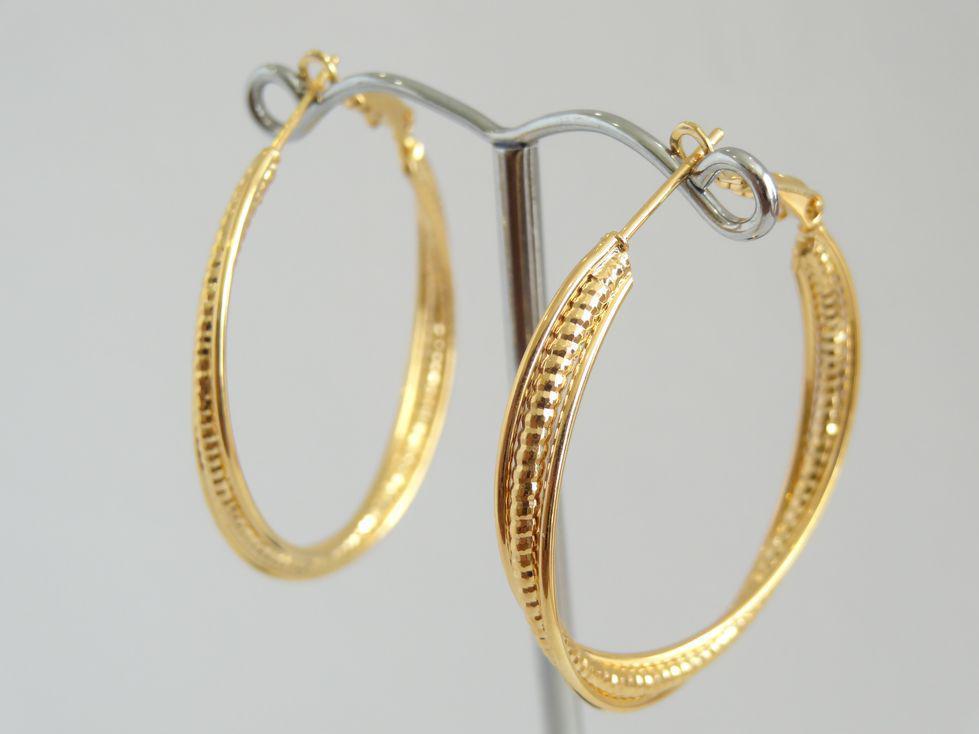 Серьги кольца позолоченные Xuping 142990