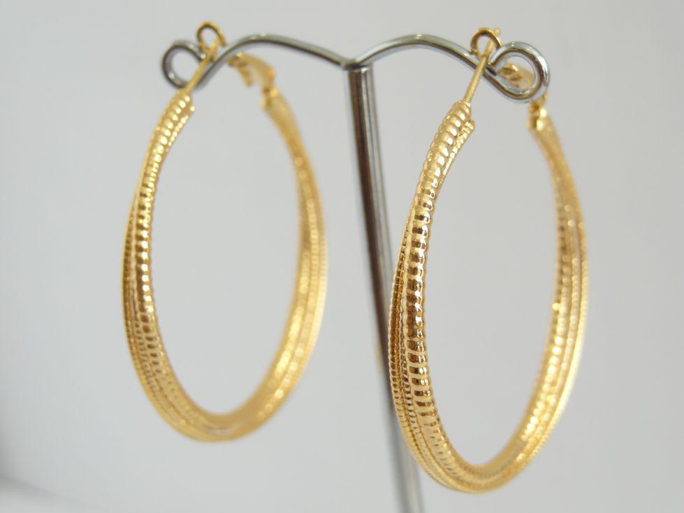 Серьги кольца позолоченные Xuping 142993
