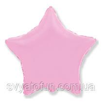 """Фольгированный шар звезда светло-розовый 18"""" 301500RS Flexmetal"""