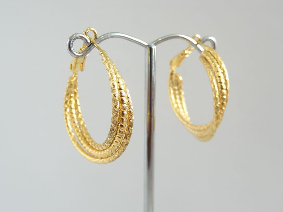 Серьги кольца позолоченные Xuping 143050