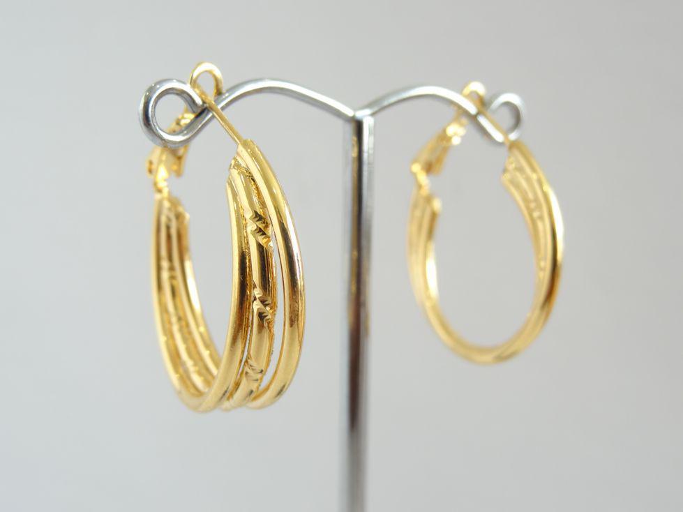 Серьги кольца позолоченные Xuping 143054