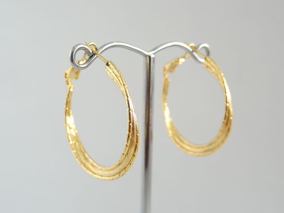 Серьги кольца позолоченные Xuping 143055