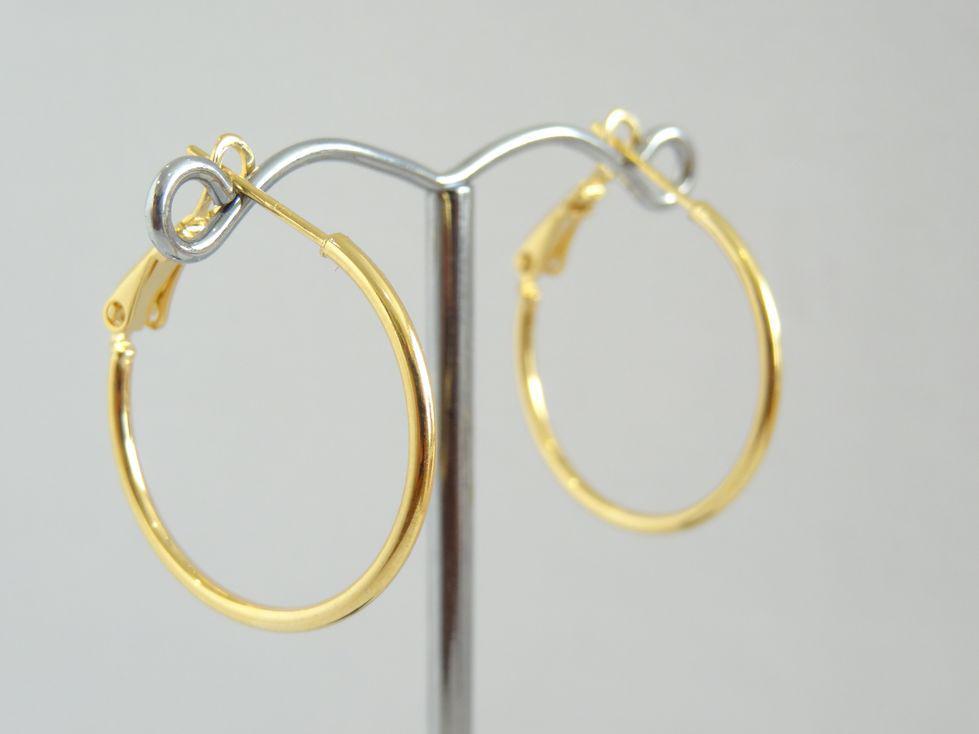 Серьги кольца позолоченные Xuping 143064