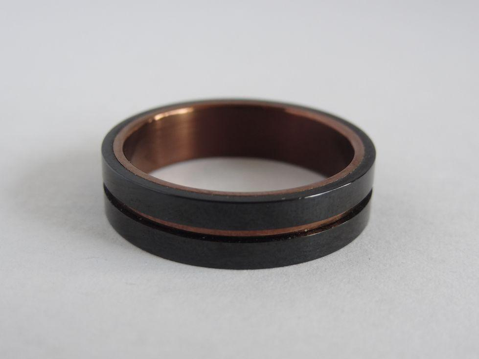 Мужское кольцо из медицинской стали 143098