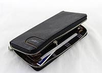 Кошелек Baellerry S1514 black, Мужской прямоугольный клатч, Мужское портмоне, Вместительный мужской кошелек