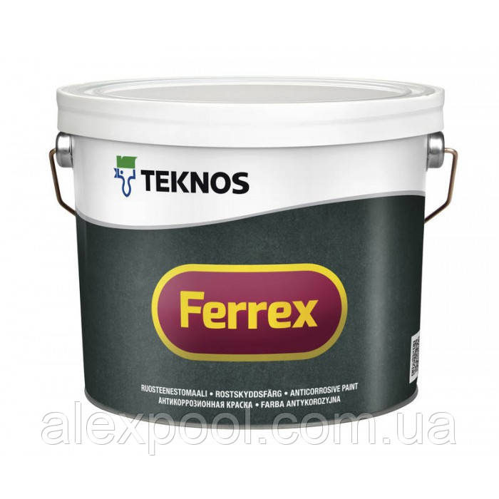 Teknos Ferrex Красная 10 л  антикоррозионная краска