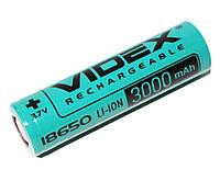 Аккумулятор 18650, 3000 mAh, Videx, 1 шт, Li-ion, Bulk