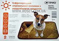Инфракрасный согревающий коврик с покрытием из ковролина с подогревом 50 х 34 см 30W