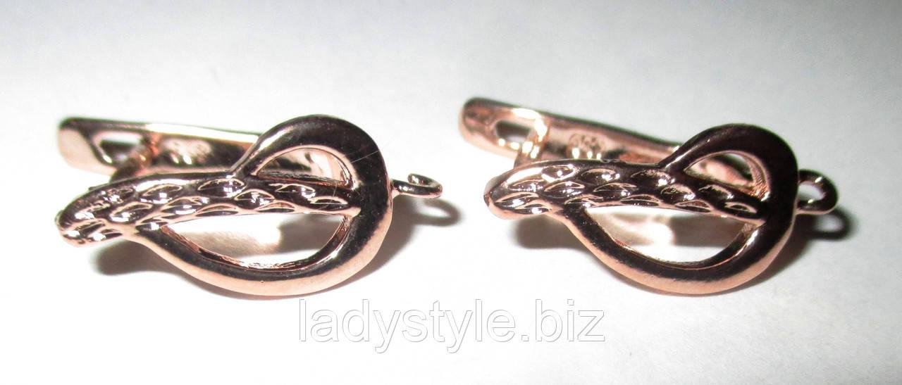 """Английская застежка """"Скрипичный ключ"""" для сережек от студии LadyStyle.Biz"""