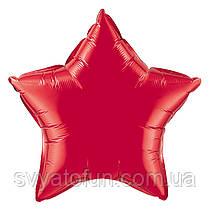 """Фольгированный шар звезда красный 18"""" 301500R Flexmetal"""