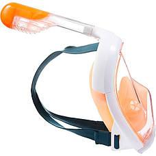 Маска для сноркелинга Easybreath SUBEA Оранжевая, фото 3