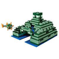 """Конструктор Bela 10734 """"Подводный храм"""" (аналог Lego Майнкрафт, Minecraft 21136), 1134 деталей KK"""