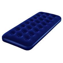Велюровий матрац одномісний BestWay 67000 синій, 185-76-22 см