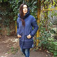 Демисезонное женское пальто комбинированное Шерсть и плащевка.