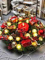 """Рождественский и новогодний венок """"Нежные шишки"""", фото 1"""