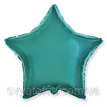 """Фольгированный шар звезда бирюзовый 18"""" 301500TU  Flexmetal"""